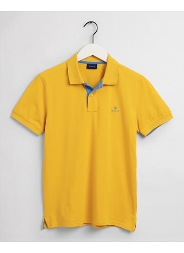 Gant Erkek Sarı Regular Fit Polo Sarı